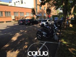 Il parcheggio di Coworking Milano Bicocca