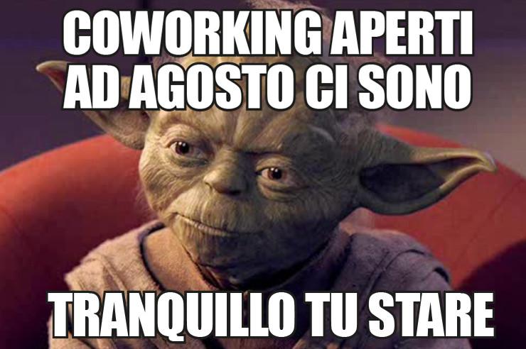 Coworking Milano aperto agosto